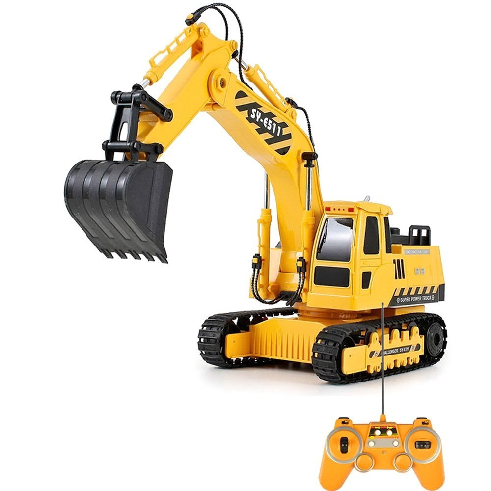 Tuba Excavating Machinery An Charge Motor-driven Arm Bar car on Remote Control bulldozer Turner Toys without original box quality good engineer series motor driven remote control tuba excavating machinery e511 toys goods in stock without original box