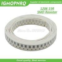 100PCS 1206 SMD Resistor 1% 15 ohm chip resistor 0.25W 1/4W 15R IGMOPNRQ