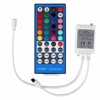 ECLH 4 Channels DC 12V   24V RGBW LED Controller Dimmer 40Key 5Pins IR Remote Control For SMD 5050 RGBW RGBWW LED Strip Light|RGB Controlers| |  -