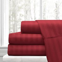 3/4 pcs bedding set 100%Polyester Striped Bed Sheet Set Twin Full Queen King Size Bed Lines Flat Sheet+Fitted Sheet+Pillowcase