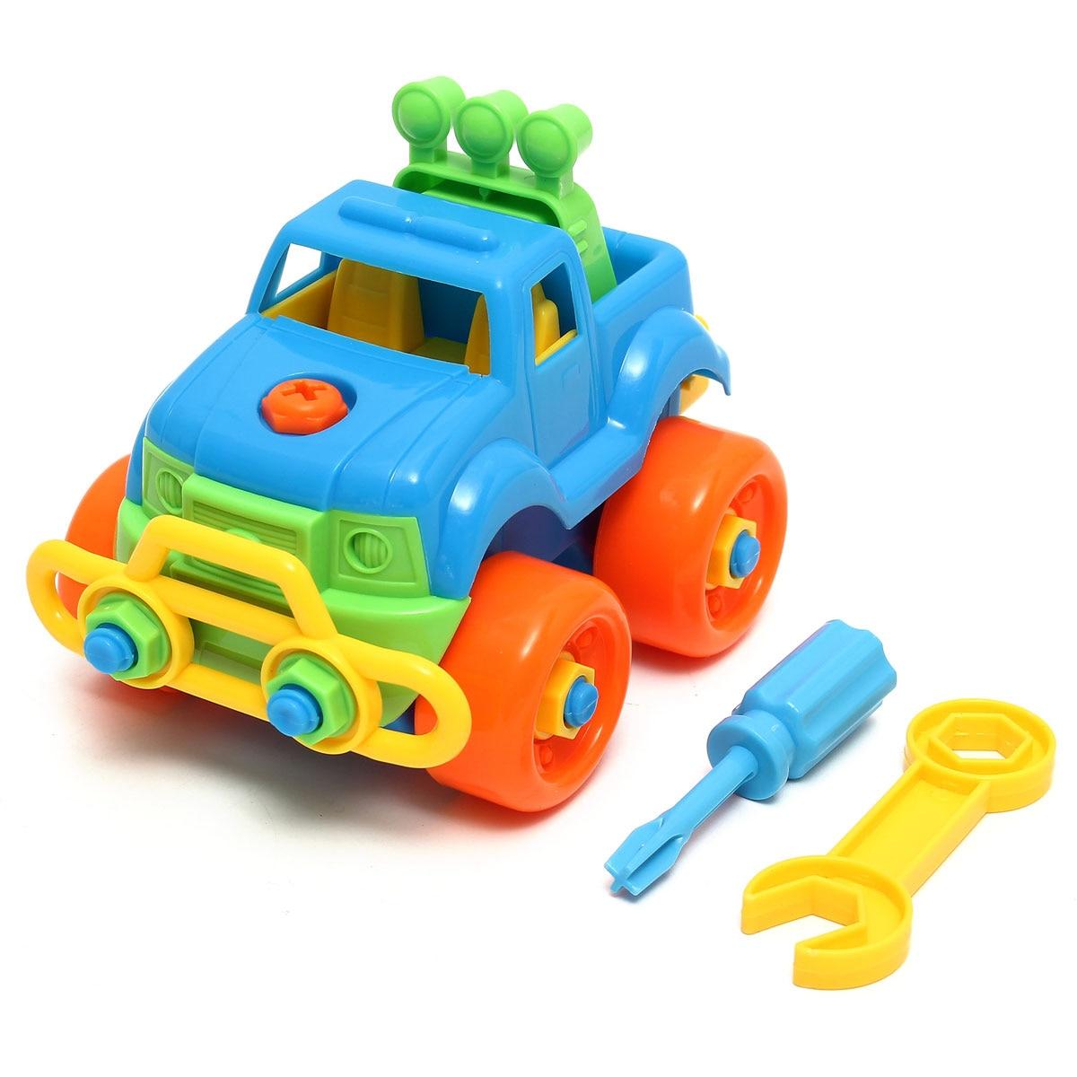 Szétszerelés szerelvény Klasszikus autójáték csavarhúzóval, ajándék gyerekeknek