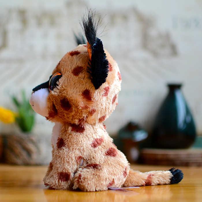 Ty beanie boos crianças brinquedos de pelúcia grandes olhos trigo mourisco marrom lince adorável crianças presentes kawaii animais de pelúcia bonecas bonito presente