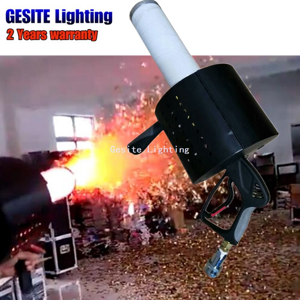 LED Co2 Confetti Led Color Poppers Wedding Decoration Streamer Confetti Cannon Machine for Party все цены
