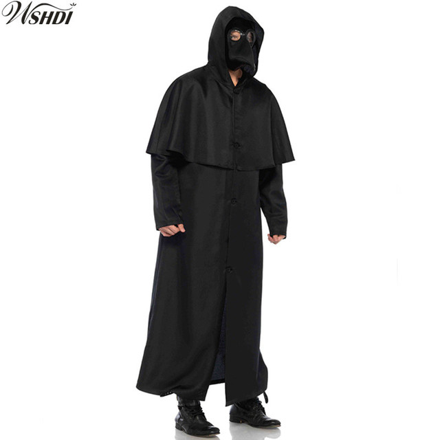 b47c41d0d8 Vintage Medieval Renaissance Robe Monk Cowl Friar Clothing Priest Hooded  Robe Cape Cosplay Costume Halloween Party Cloak