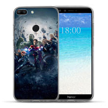 Luxury Marvel Hero venom Case For Huawei Honor 10 9 8 Lite 8X 7 7A 7X 7C 6A 6X Case The Avengers Man Cover Funda Capinha Etui