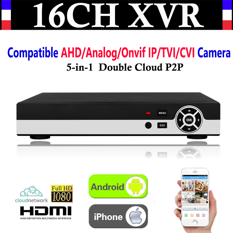 NEW 16CH Channel 1080P P2P CCTV Video Recorder NVR AHD TVI CVI DVR+1080N 5-in-1 Surveillance AHD/Analog/Onvif IP/TVI/CVI Camera new 4ch channel 1080p p2p cctv video recorder nvr ahd tvi cvi dvr 1080n 5 in 1 surveillance ahd analog onvif ip tvi cvi camera