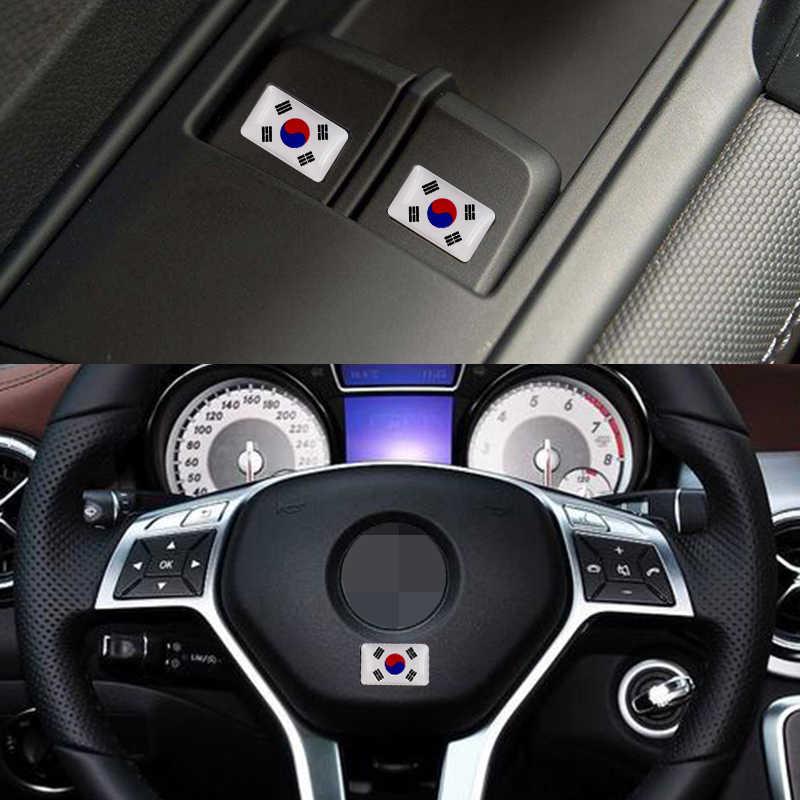 Etiqueta engomada de la motocicleta del emblema de la bandera de Corea del estilo del coche para Audi SUZUKI Toyota Nissan Mazda accesorios Mitsubishi
