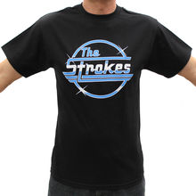 The Strokes Rock Band Graphic T-Shirts Summer Short Sleeves Cotton T Shirt Top Tee Mens 100% Sleeve Print