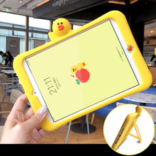 Silica gel case duck bracket Tablet Case For Apple Ipad 2 3 4 air 1 2 mini 1 2 3 4 for new Ipad 2017 pro 9.7 cover(China)