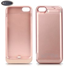 Hot Sale Cover 4200mAh External wirelessBattery Backup Charger Case Pack Power Bank for iPhone 5/5s/5c SE Freeshipping Rose Gold