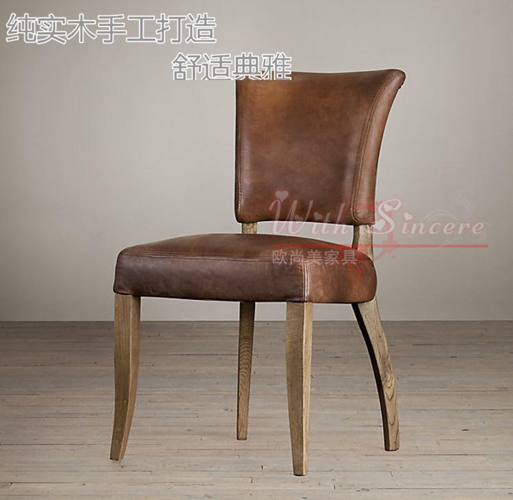 American Country Style Retro Wood To Do The Old French Dining Chairs  Leather Chairs Meeting Of European French Soft Bag Chair In Shampoo Chairs  From ...
