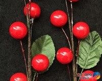 Christmas Ornaments Wedding Ornaments Wedding Decoration Decorative Scene Arrangement Big Red Cherry Pruning