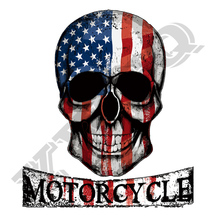 Skull Motorcycle Applique New Design Diy Accessory Badges Washable Clothing Deco Heat Transfer Patches For Clothes