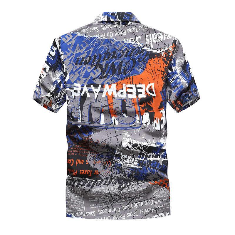 ... Aloha Shirts Men Clothes 2019 Summer Camisa Havaiana Colorful Printed Short  Sleeve Mens Hawaiian Beach Shirts ... d39cfa31b243