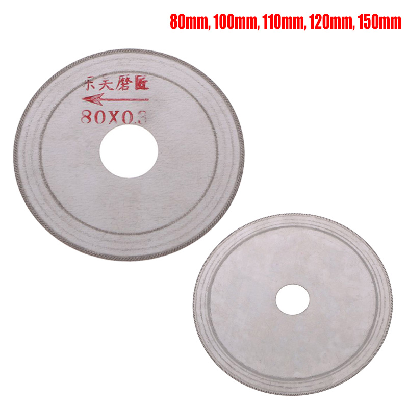 1pc Ultra-thin Diamond Saw Blade Slant Teeth Cutting Tools For Stone Agate Jade 80mm/100mm/110mm/120mm/150mm 2019New