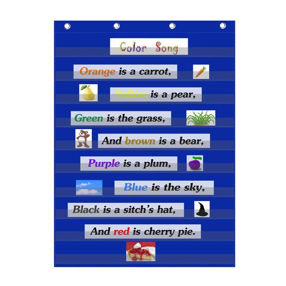 Godery Standard Pocket Chart Teacher's Friend Durable Classroom Pocket Chart  Ideal For All Kinds Of Classroom Uses