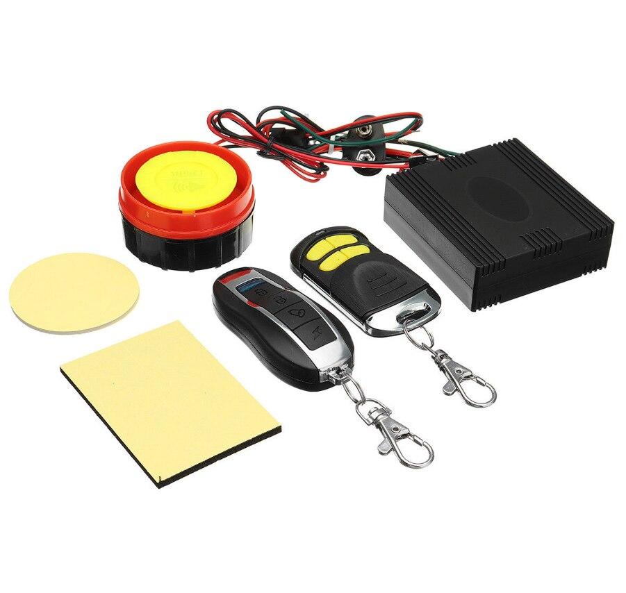 Sepeda Motor Universal Sistem Alarm Skuter Anti-Pencurian dan Keamanan Sistem Alarm Remote Control Mesin Start + Alarm Moto Speaker