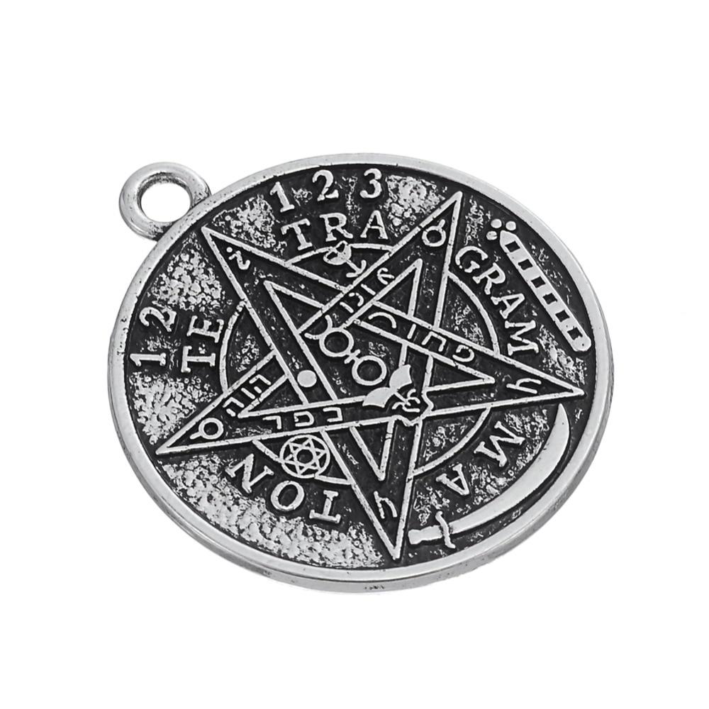 Antique tetragrammaton pentacle pendant aloadofball Choice Image