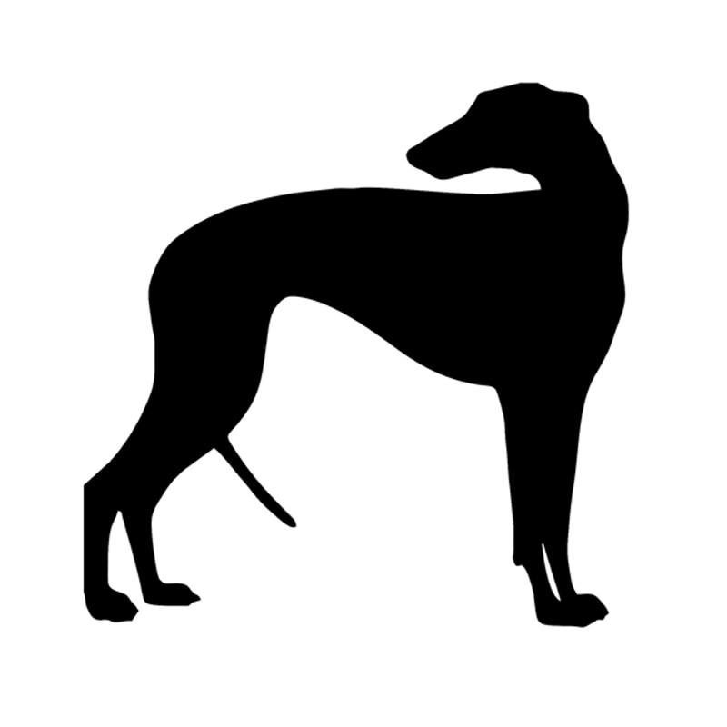 Greyhound Dog Decal vinylklistermärke för bil Wheelie Bin SUV Lastbil båt fönster stötfångare hem vägg