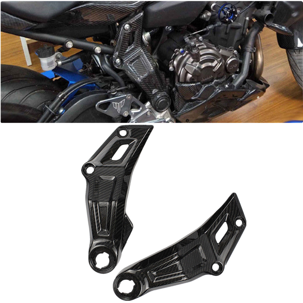 100 Real Carbon Fiber Side Mid Engine Frame Cover Panel for 2014 2018 Yamaha FZ MT
