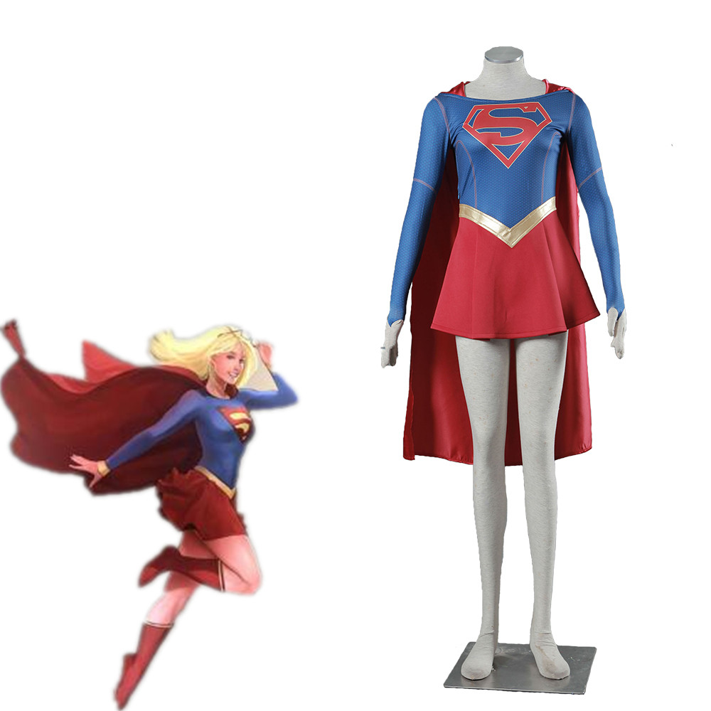Athemis Movie Marvel  Supergirl  Cosplay Costume Custom Made Cloak Dress High Quality