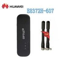 Разблокированный HUAWEI 150 Мбит/с E8372 E8372h-607 4 аппарат не привязан к оператору сотовой связи Wi-Fi модем ключ с TS9 4G антенна Поддержка B3 B7 B8 B28 B40