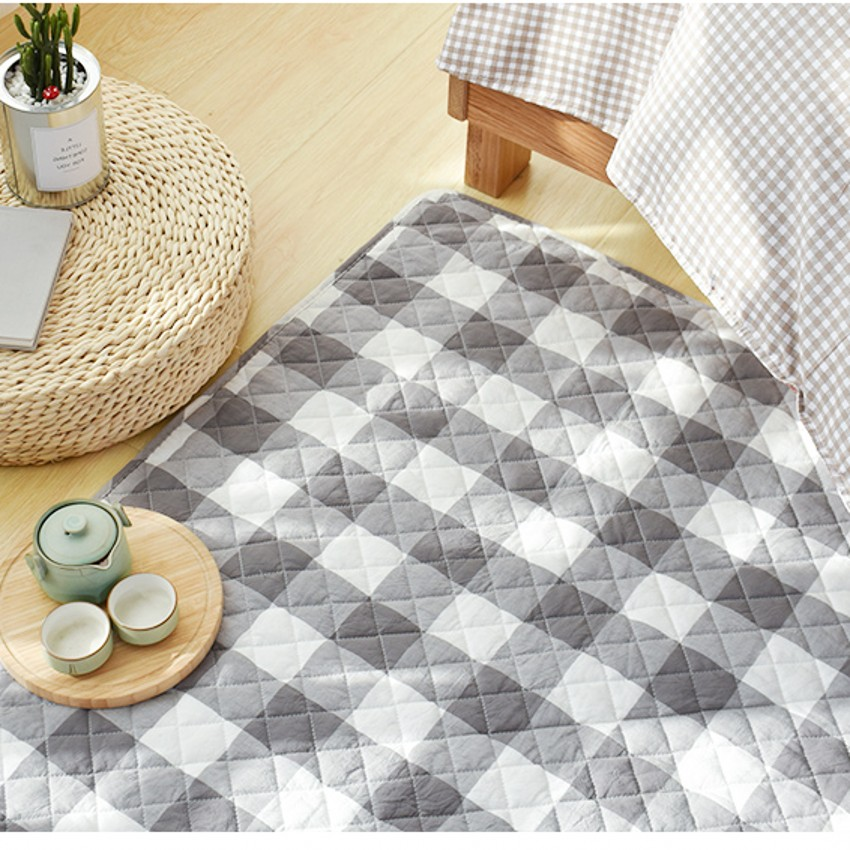 Brilliant Japanese Style Plaid Tatami Mat quilted 100% Cotton Environmental Ground Mat For Living Room Yoga Mat,baby Crawls Floor Mat
