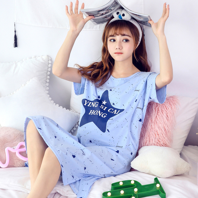 2ddb956f3ec Maternity pajama sleepwear nursing nightwear for pregnant women nightdress  maternity breastfeeding nightgown pregnancy sleepwear