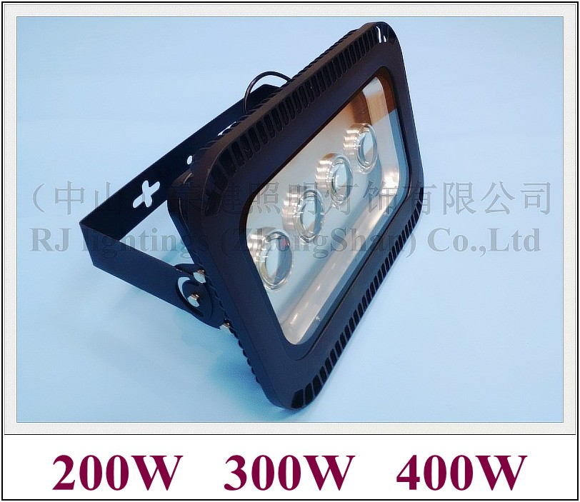 with lens outdoor waterproof LED flood light floodlight tunnel light AC85-265V IP65 200W (4X50W) / 300W (6X50W) / 400W (8X50W)