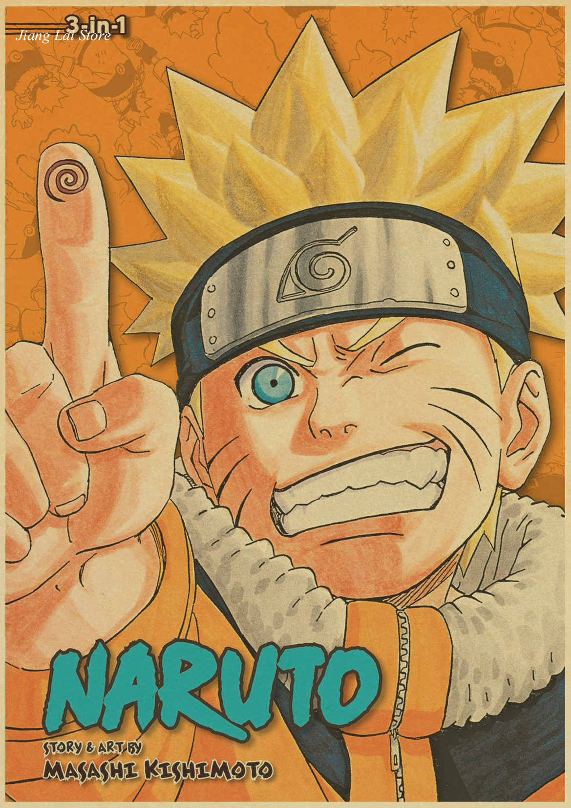 Vintage Retro Anime Poster Posters Uzumaki Naruto Luffy Wanted One Piece Bar Cafe Home Decor