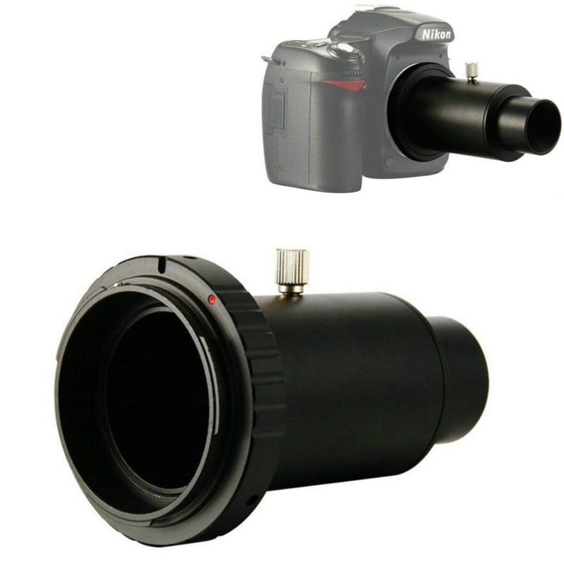 Novo Full Metal Telescópio Adaptador de Câmera T-Anel + 1.25