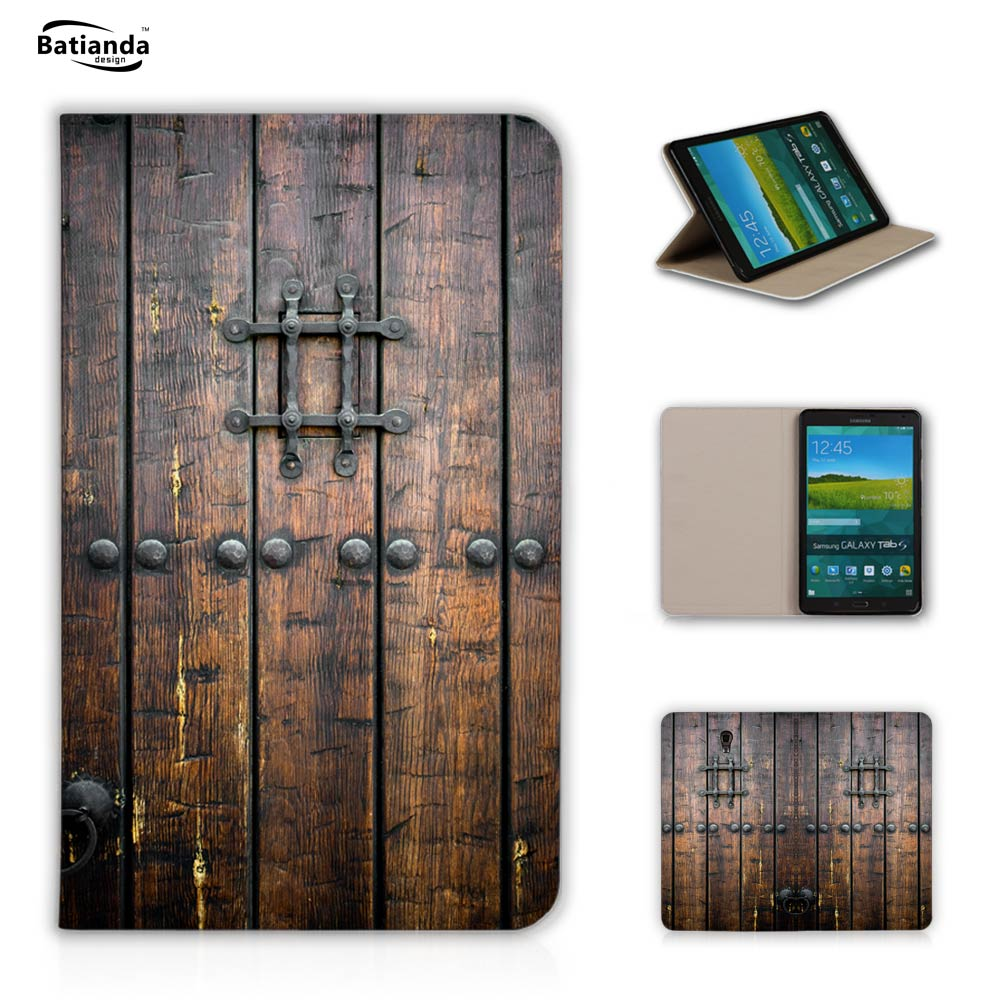 Fashion Print Retro Door Flip PU Leather For Samsung Galaxy Tab S 8.4 Case For Samsung Galaxy Tab S T700 T705 Magnetic Cover
