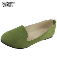 New Arrival Spring Style Women Sweet Flats Pointed Toe Fashion Design Flat Shoes Simple Soft