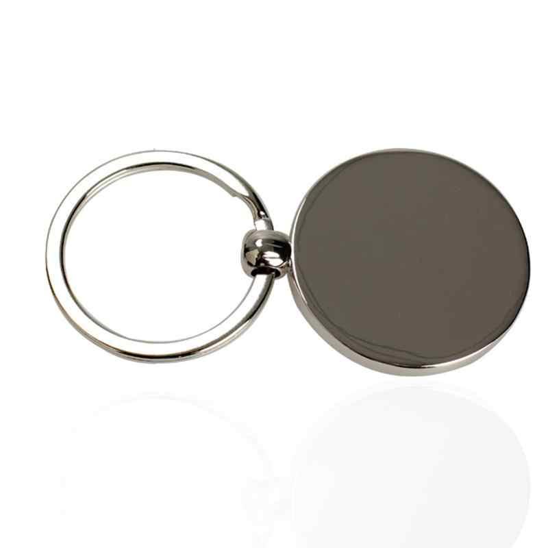 LLavero de Metal único de anillo de llavero creativo Mini calendario permanente sol Luna tallado regalo perfecto 50 años 2010 a 2060
