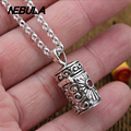 925 Sterling Silver Vintage Buddhist treasures box Cross Pendant Necklace Jewelry For Men & Wonmen Punk Thai Silver Faith