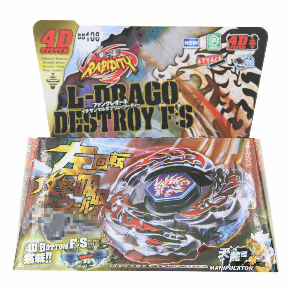L-drago Destructor destruir Spinning Top STARTER SET con lanzador NIP BB-108