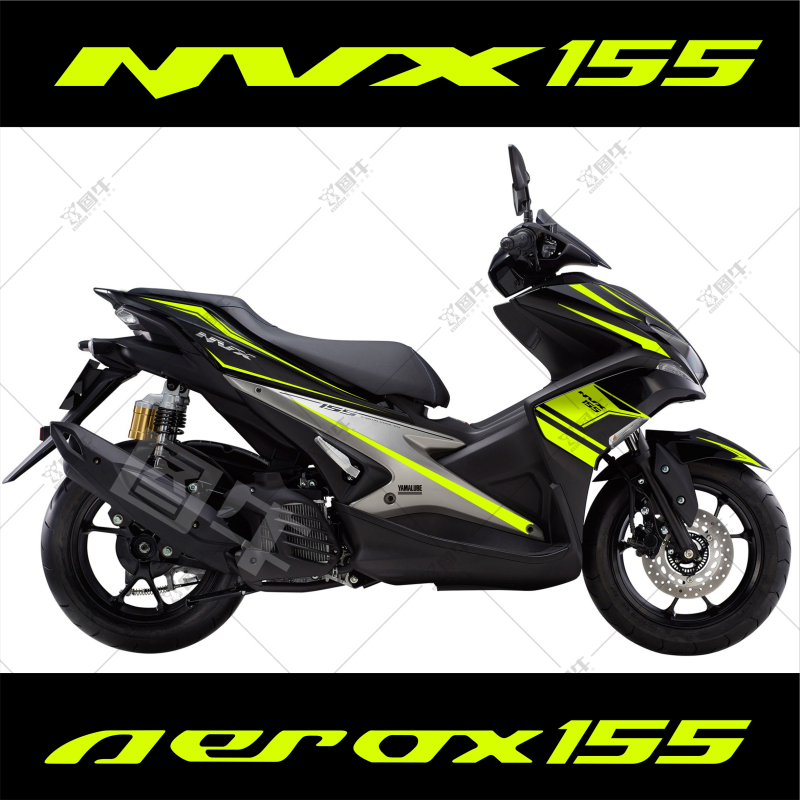 Motorcycle car Whole car flower pulling Body sticker For Yamaha NVX AEROX 155-in Decals & Stickers from Automobiles & Motorcycles