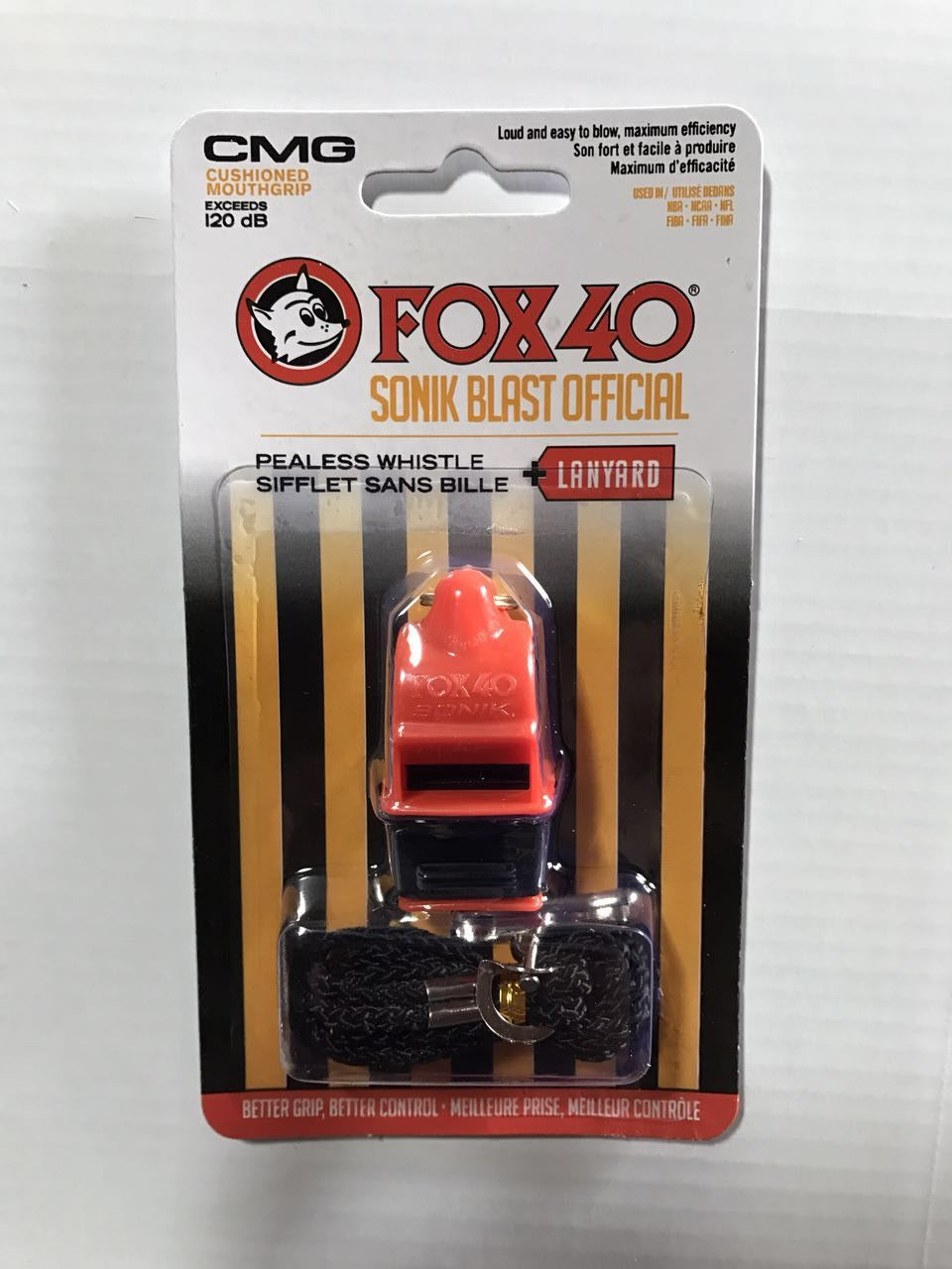Free Shipping12pcs/lot Colorful  SONIC Fox 40 Whistle With CMG Mouthpiece And Lanyard In New Blister Packing