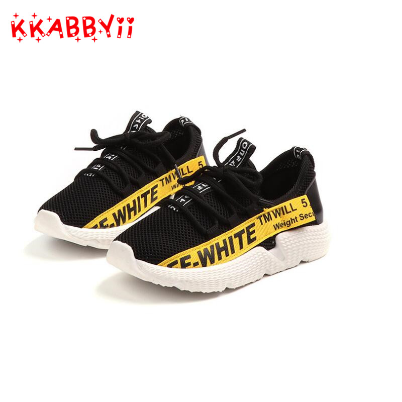 Kids Shoes For Girls Boys Fashion Children Breathable Mesh Sneakers 2018 Summer School S ...