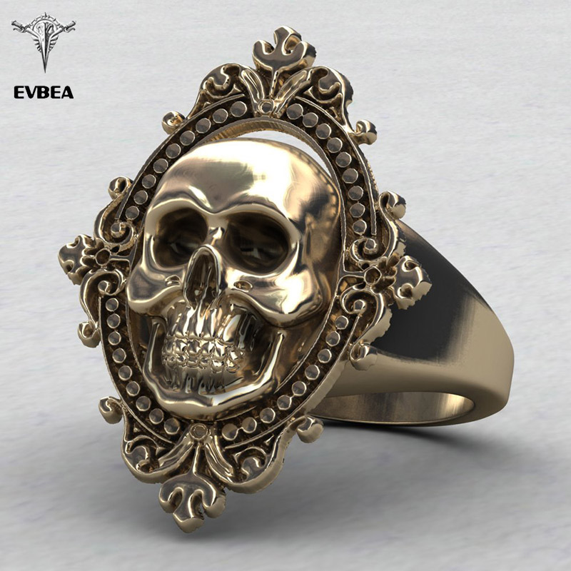 Aliexpress Com Buy Evbea Charming Ancient Gold Skull