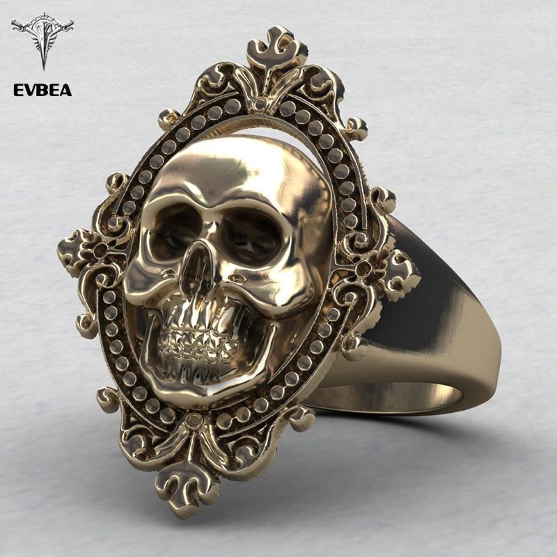 Aliexpress.com : Buy EVBEA Charming Ancient Gold Skull ...