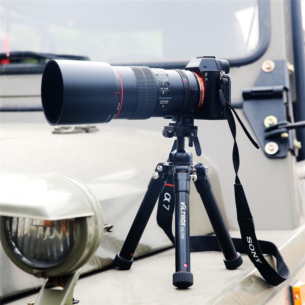 Viltrox VX T60 Portable Aluminum Tripod Compact Desktop Mini Table Camera Tripod with Ball Head for
