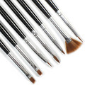 Hot 7 unids Acrílico Nail Design Art Liner Pintura Dibujo Pen Brush Pinceles Herramientas spazzola di trucco pincel de maquillaje OT19