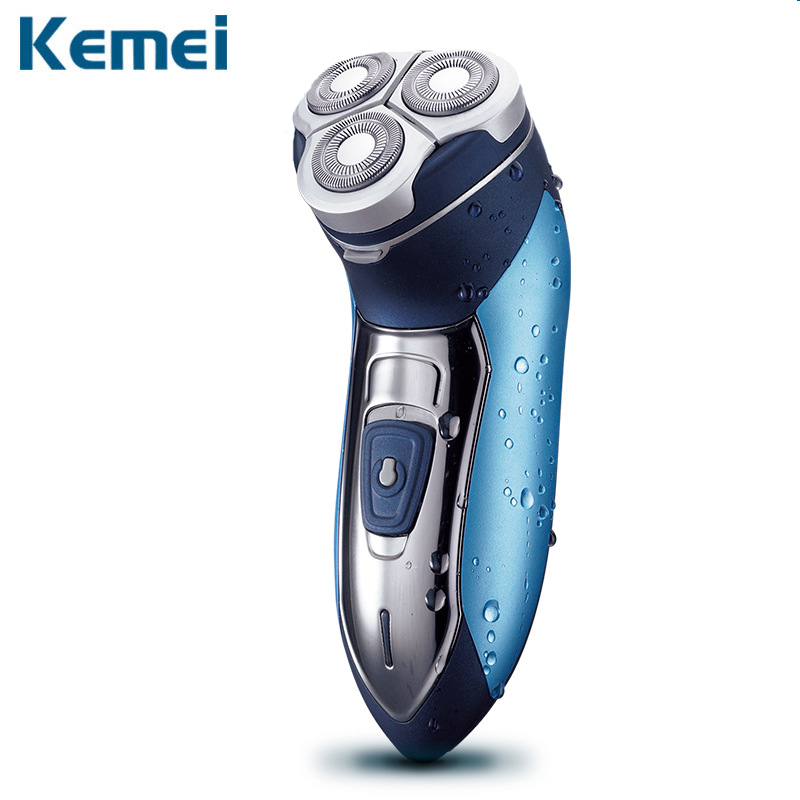 Kemei 7390 Electric Shaver Washable Razor For Men Blade Rechargeable Razor Shaving Men Face Beard Care 3D Floating Hair Trimmer w541 washable 3d rechargeable beard shaving electric shaver for men heads razor trimmer