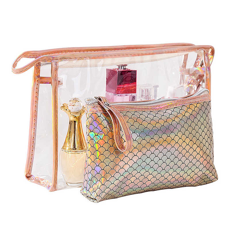 5dc016f9b6f6 Detail Feedback Questions about 3 Pcs/Set Women Clear Cosmetic Bags ...