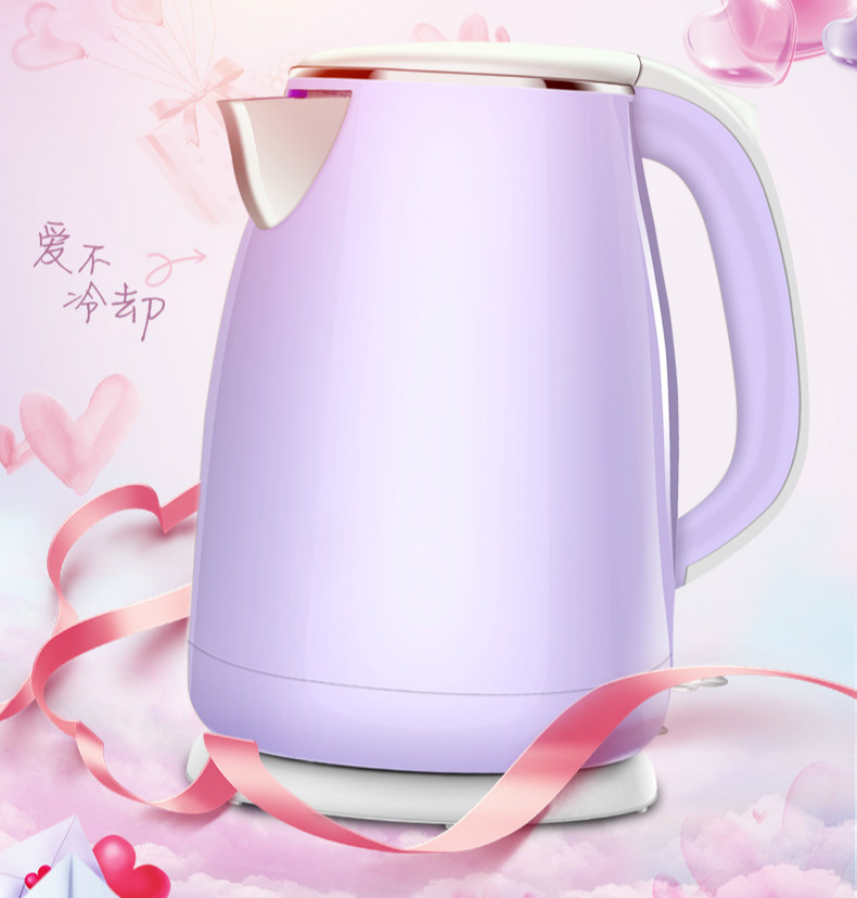 Electric kettle household automatic power cut insulation large capacity 304 stainless steel l seamless integral liner slender mouth electric kettle 304 stainless steel mini household blister automatic power cut small capacity
