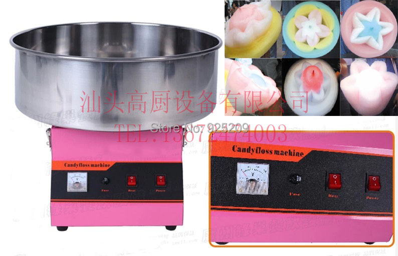 Free shipping~ with CE certification  Commercial candy floss machine/  Fancy cotton candy maker / free shipping commercial 110v 220v electric 25 cotton candy floss maker machine 100pcs 14 bamboo skewers