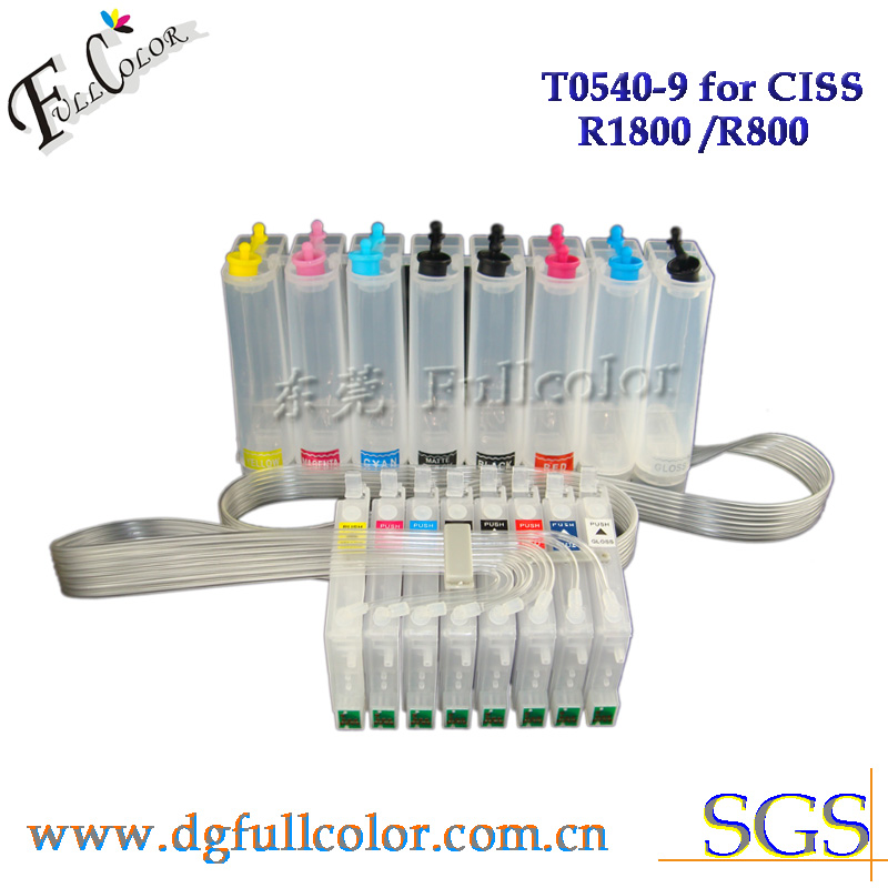 Free Shipping  Empty Ink System CIS For Epson R1800 Printer CISS Use Dye Ink Pigment Ink Sublimation INKs free shipping 9 litre a set ciss refill submation ink for epson a3 inkjet r3000 printer ink