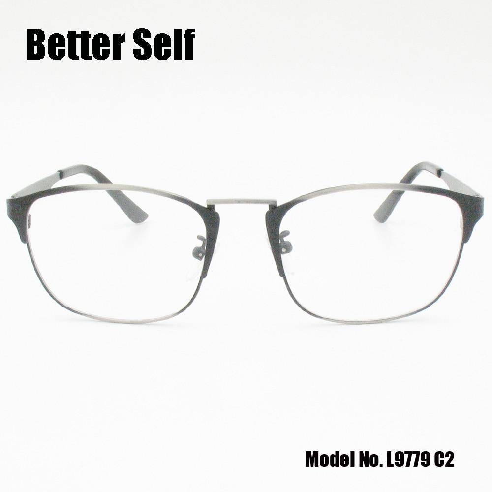 Better self l9779 clear lens spectacles metal square computer glasses men optical frame women thom browne eyeglasses optik