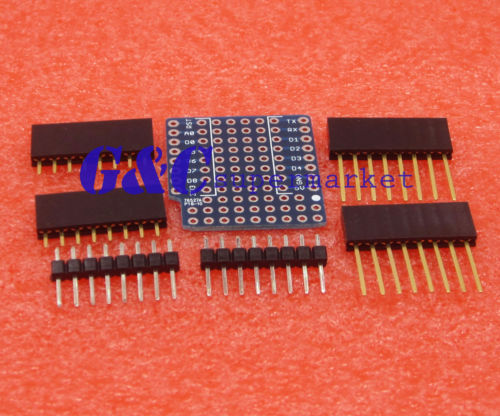 ProtoBoard Shield for WeMos D1 mini double sided perf board  Compatible By WeMos